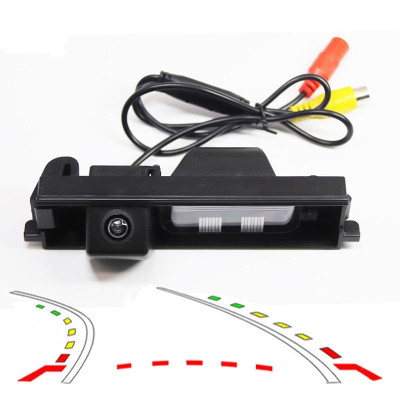 Dinâmica Trajetória Faixas car Rear View estacionamento backup Câmera para TOYOTA RAV RAV4 RAV-4 4 Revese Backup Câmera CCD HD