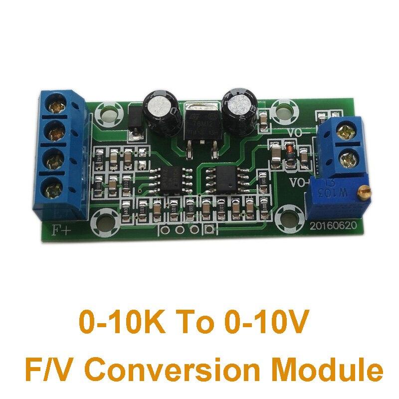 Conversión de frecuencia de módulo de conversión F/V 0-10K a voltaje de 0-10V convertidor de digital a analógico módulo