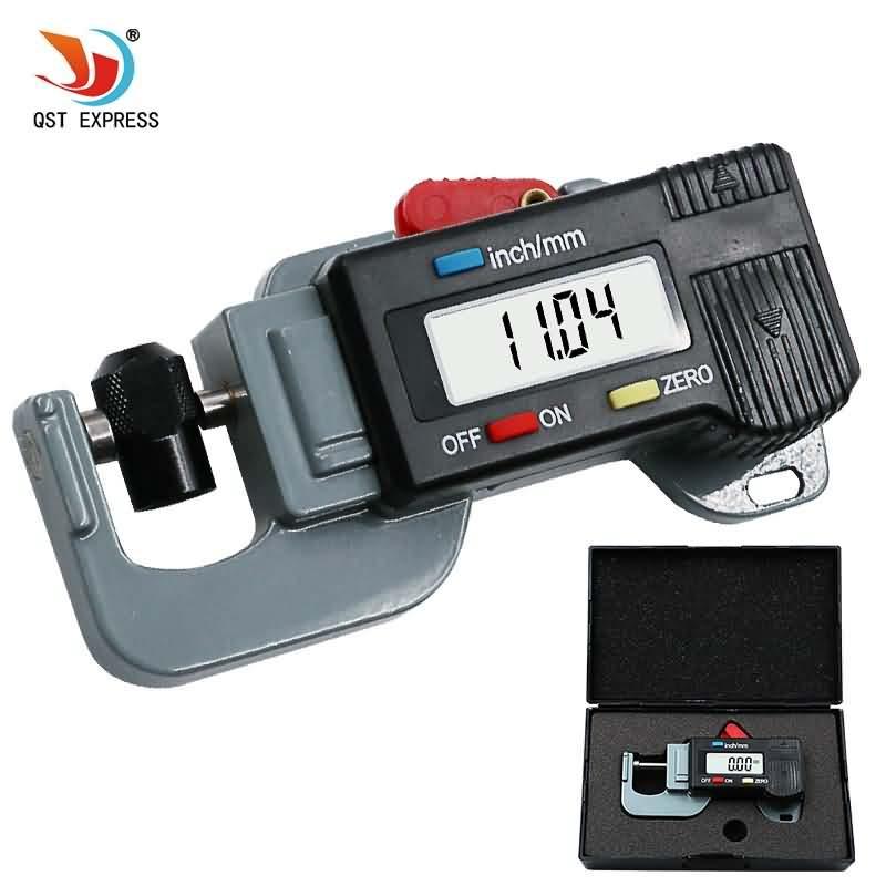 Цифровой измеритель толщины, микрометр 0-12,7 мм 0,01 мм