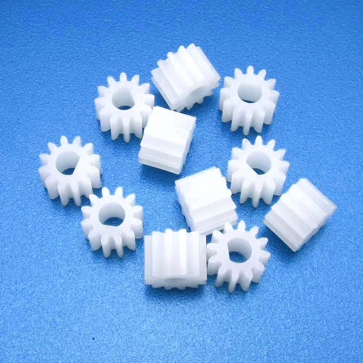 10pcs New D Shape Hole 3mm 12T M0.5 Gear 1012DF 12 Teeth Plastic Gear  For N20 D-Axis Motor DIY Mayitr