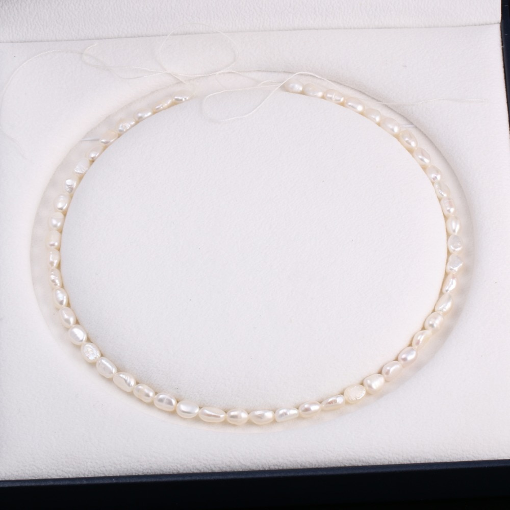 Natural Pearls Freshwater Cultured loose Beads for Jewelry Making DIY Bracelet Necklace Earrings Strand 13 Inches Size 6-7mm