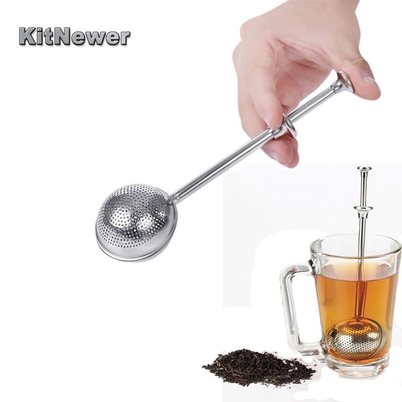 KITNEWER Stainless Steel Tea Mesh Teaspoon Tea Infuser Reusable Strainer Loose Tea Leaf Herbal Stainless Steel Filter Tea Strain