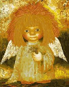 MaHuaf-W760 adorable Ángel pintura por números DIY aceite cuadro digital de pared para SALA DE