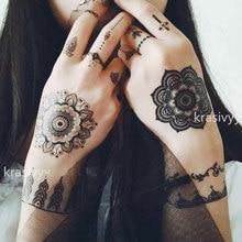 Zwart kant tattoos Sexy Body Art Schoonheid nieuwe Make-Up party holiday Cool mooie Henna & Kant Waterdichte Tijdelijke Tattoo Stickers