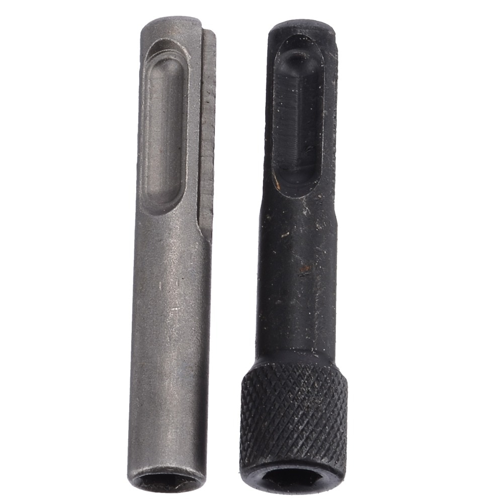 "2pcs 1/4"" Hex Shank Drill Bit Chuck Adapter SDS Converter Adapter Nut Impact Driver Set For Drilling Tools"