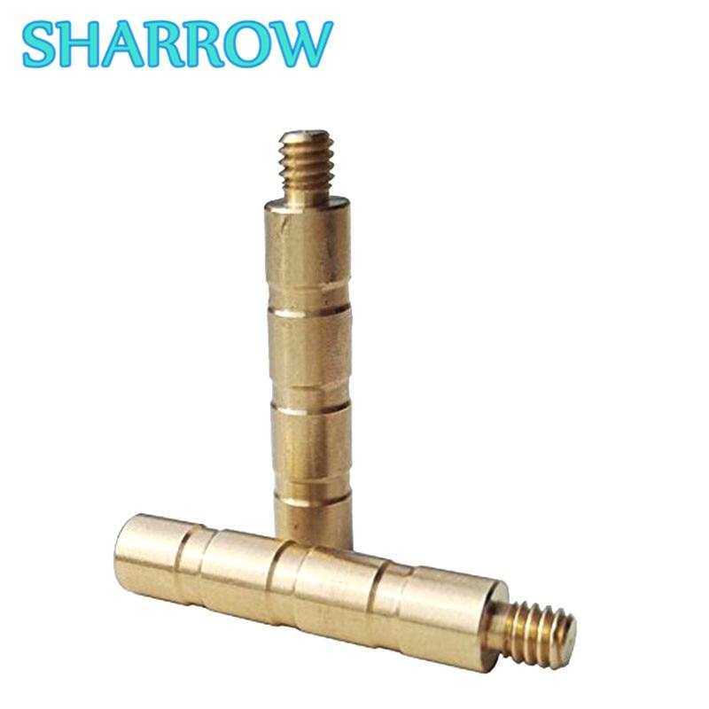 12/24 pçs latão seta peso 100 grão de cobre combo parafuso ponto inserção conectar arrowhead treinamento tiro com arco acessórios
