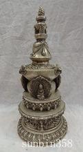 """17 """"elaborado Budismo Tibetano de cobre Tope favorable Smybol Shakyamuni estatua Stupa Pagoda"""