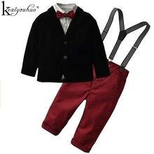 Ensemble de vêtements pour garçons   Ensemble automne-hiver, vêtements pour enfants garçon, ensemble T-shirt + jean, tenue, 2020