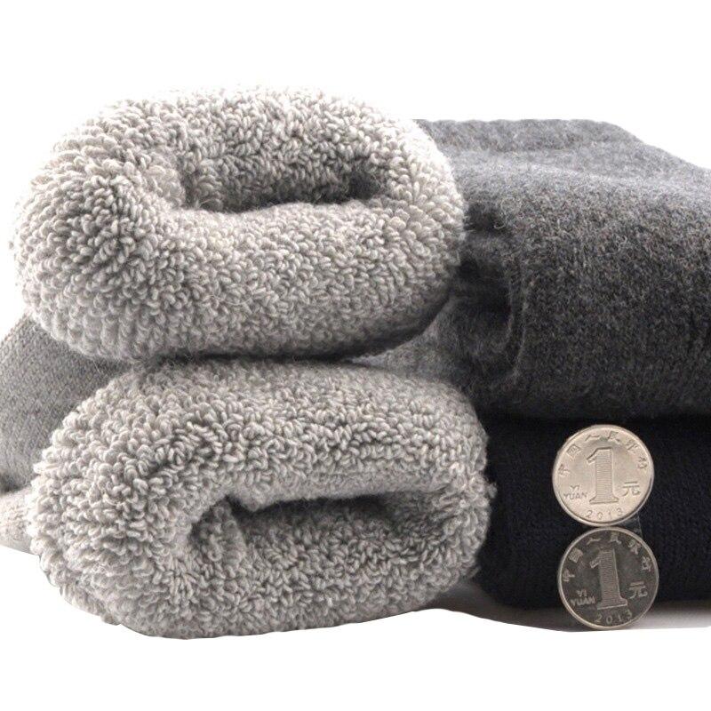 3 пары, мужские зимние носки, Канада, на 30 градусов ниже нулевой температуры, носки из холодной шерсти для мужчин, плотные носки с ворсом, одноцветные теплые носки Meias