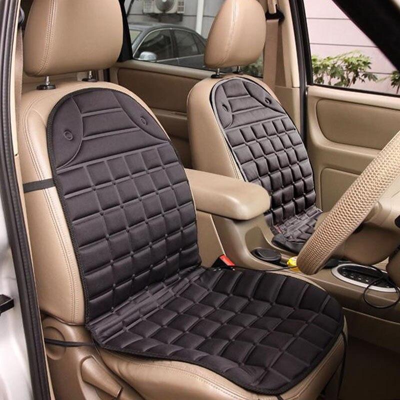 Almohadilla de asiento de calefacción eléctrica de coche versión de dos plazas cubiertas de asiento de coche almohadilla de cojín de asiento de coche calentador de coche almohadilla de calefacción de coche