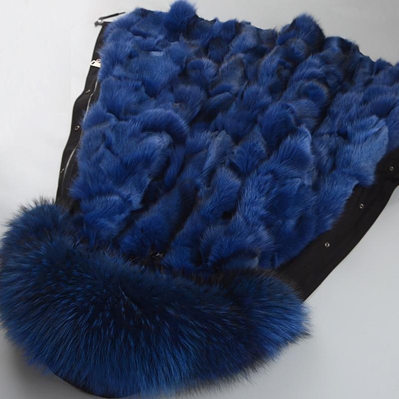 Nueva parka para hombre y mujer abrigo de piel natural piel de zorro real forro desmontable cuello de piel de zorro talla grande ropa de abrigo grasa mm100 kg abrigo