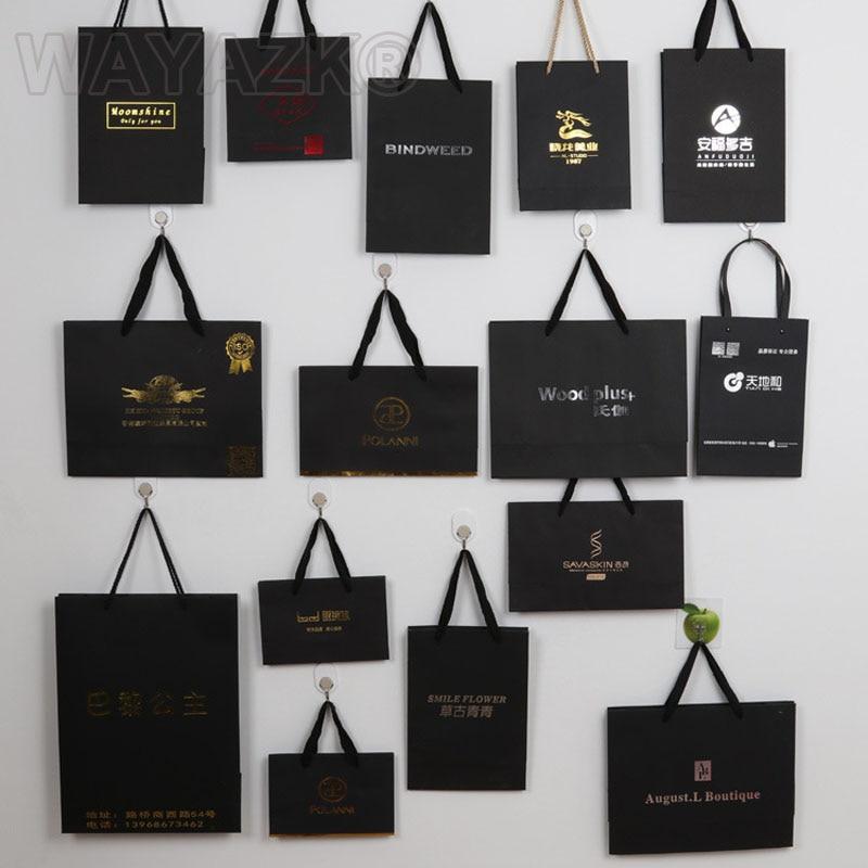(1000PCS/lot)  Personlized custom gift paper bag logo