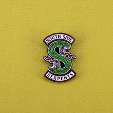 South side serpents enamel pin horror snake brooch reptile animal badge green python pin Riverdale fans gift