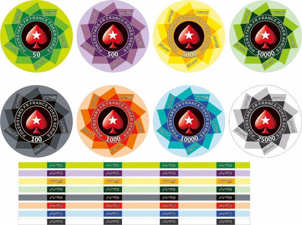 1250 unids EPT Poker Chips Set Europea con Valor Pokerstar Cerámica Fichas Fichas de Casino Poker Tour Handfeel Profesional