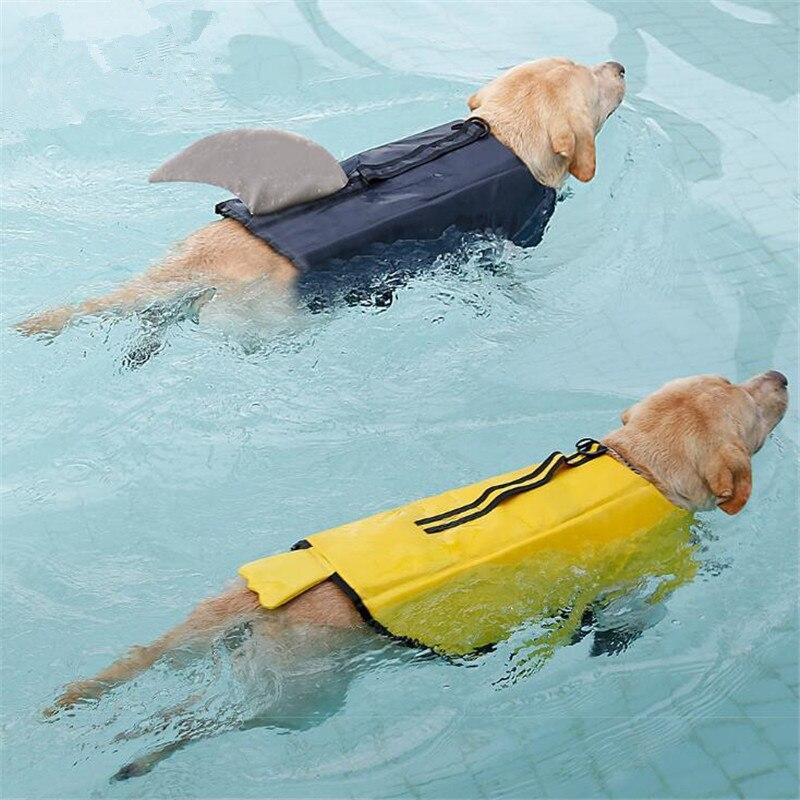 Chaleco salvavidas para perro, gran mascota grande, chaqueta de natación, disfraz de Animal de dibujos animados, ropa flotante de espuma segura, traje de baño para Bulldog Golden Retriever