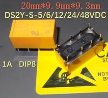 Ensemble de 10 pièces  , 6VDC, 12VDC, 24VDC, 48 vdc, relais de signal 1A, deux ouverts ou fermés, 8 pieds, DS2Y