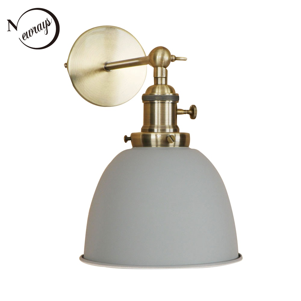 Simples país ferro lâmpada de parede lâmpada de parede moderna casa deco luz LED com cores 9 for living room restaurant cafe corredor caminho do escritório