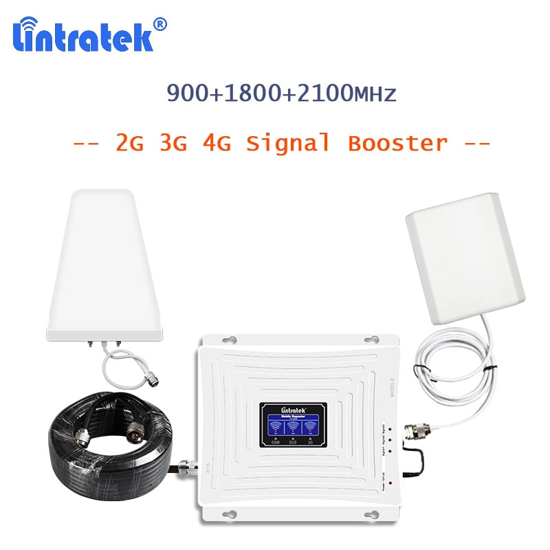 LCellular Booster 2g 3g 4g GSM LTE Repeater 900 1800 2100 for Cellphone UMTS/DCS Mobile Signal Amplificador Network Full kit S29