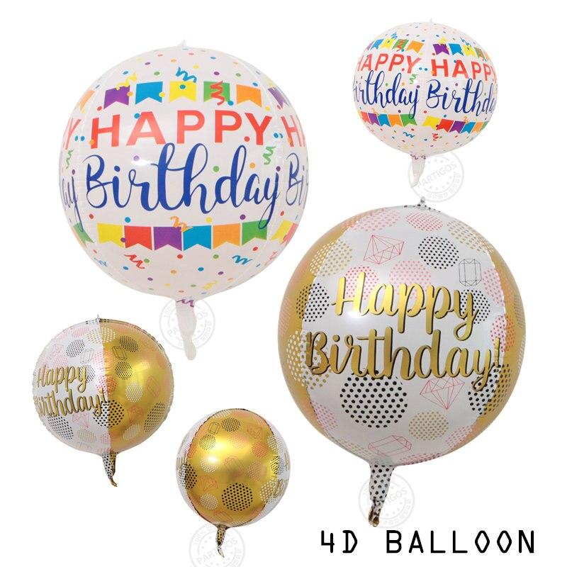 Globos de papel de aluminio para cumpleaños, 1 Uds., 22 pulgadas, 4D, decoración global para fiesta de cumpleaños, decoración de boda, Baby Shower, suministros de cumpleaños para adultos