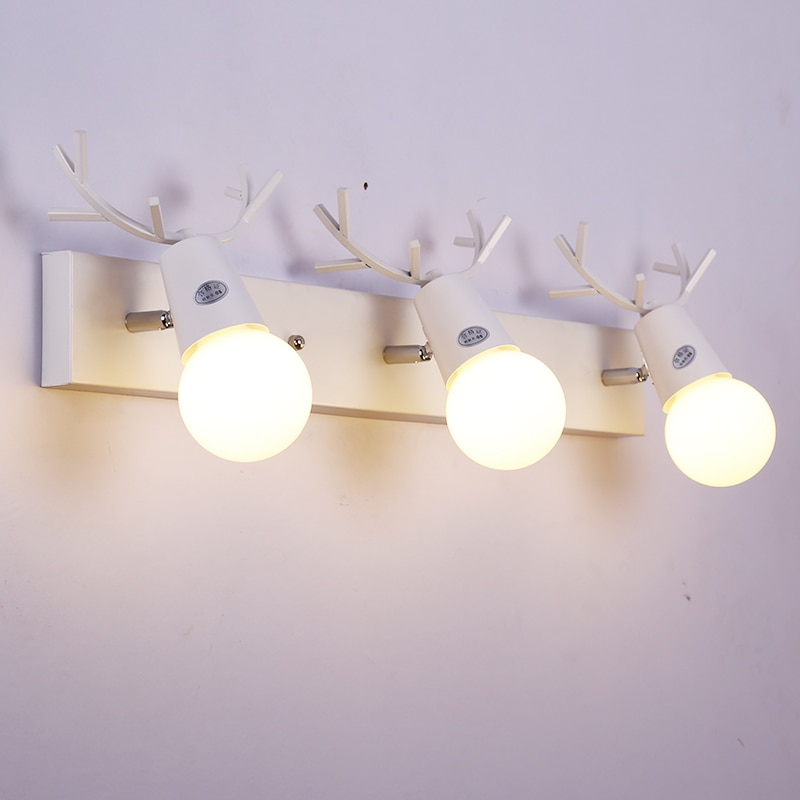 Creative deer, lámpara Led de espejo, lámpara moderna de pared, luces para armario de baño, luces para vestidor, lámpara de espejo, iluminación para niños