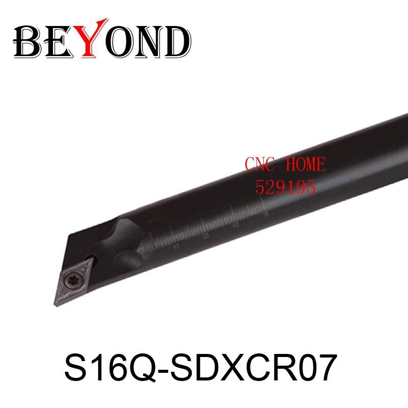 OYYU 16mm SDXCR SDXCL S16Q-SDXCR07 S16Q-SDXCL07 soporte de herramienta de torneado interno herramientas de corte de torno Barra de mandrinado insertos de carburo CNC
