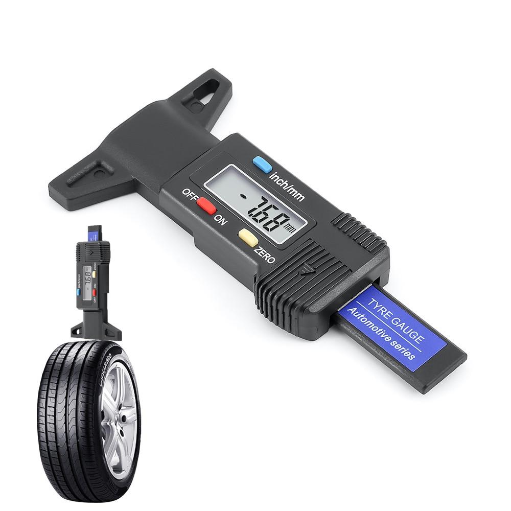 1 шт. инструмент для ремонта авто шин автомобильный тестер накладка тормозного башмака автомобильный измеритель глубины протектора шин цифровой датчик глубины Шин протектор измерения давления в шинах