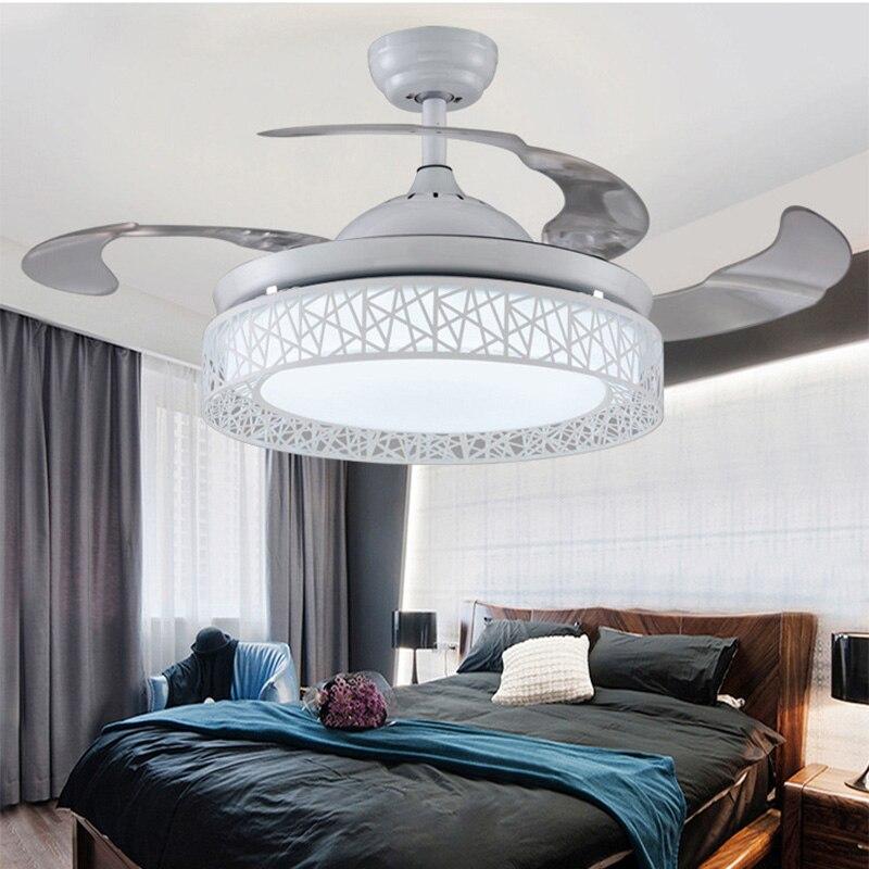 Ventilateur de plafond lumières télécommande 36/42 pouces salle à manger chambre salon ventilateur lampes ventilateur de plafond éclairages Luminaria Pendente maison