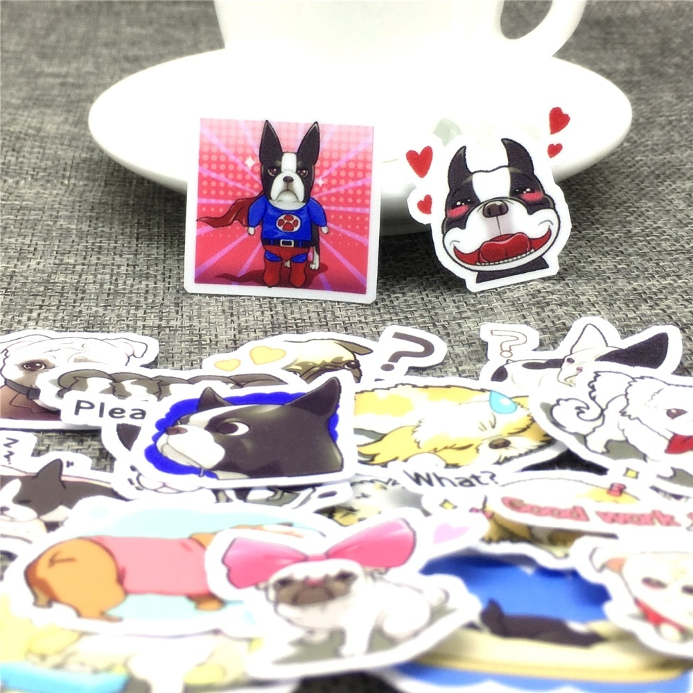 40 pcs Cartoon dog daily behavior Stickers Scrapbooking  Decoration DIY toy phoneAblum Diary Label Sticker Kawaii Stationery
