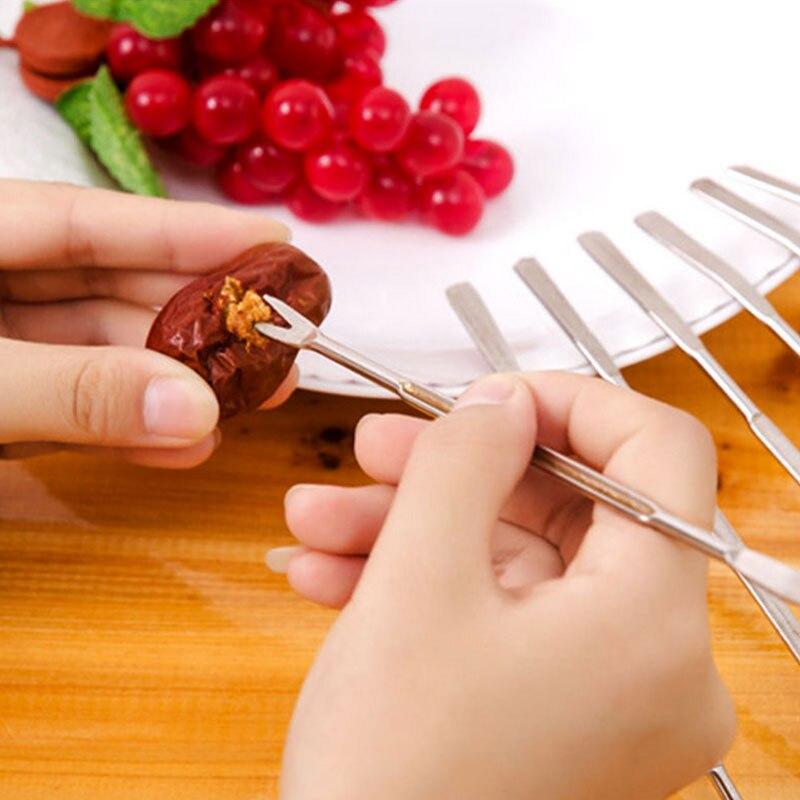 Tenedor para cangrejos de aguja de cangrejo multifuncional de acero inoxidable, tenedor para fruta, tuerca, selección de mariscos, nogal, tenedor, herramientas de cocina