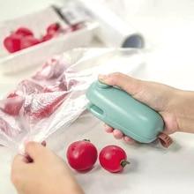 Sac demballage magnétique Portable   Mini sac demballage de Snacks à main, scellant à la chaleur et découpeur Machine de scellage, capteuse de stockage des aliments Portable, outil de cuisine