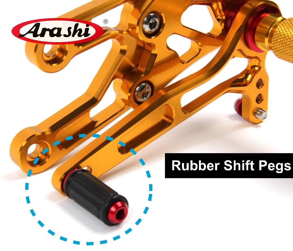 Arashi Adjustable Rearsets Replacement Rubber Shift Peg Gear Selector Motorcycle Footrest Spare Parts Foot Peg 1PCS