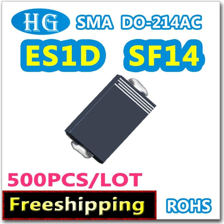 ES1D SF14 1A 200 V SMA DO214AC 500 pçs/lote dentro super rápida recuperação de dados Nós oferecemos amostras grátis de Alta qualidade original