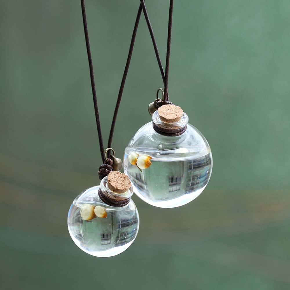 Auto Parfüm Flasche Lufterfrischer mit Blume für Ätherische Öle Auto Ornament Parfüm Anhänger Haushalt Lagerung Flasche