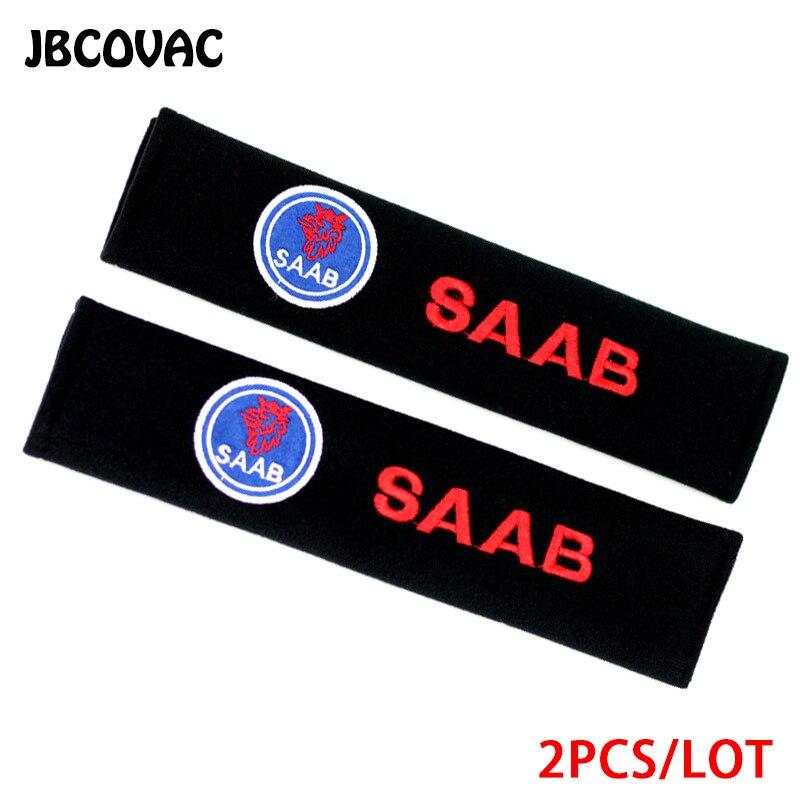 2 unids/lote Auto accesorios pegatina coche estilo protección hombro acolchado funda para Saab 93 95 Saab 9-3 9-5 900 9000 emblema