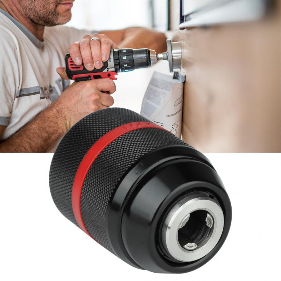 Mandril de taladro eléctrico de mano portabrocas auto-apretadas 2-13mm 1/2-20UNF Cambio rápido reemplazo de mandril de perforación sin llave