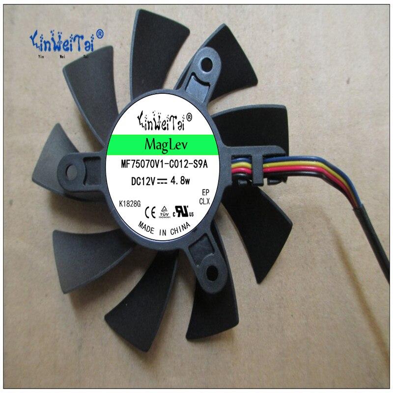 GTX550Ti PLA08015B12HH 12 v 12 v 0,35 75mm x 42x42x42mm MSI R4770 R6850 ventilador de enfriamiento de la tarjeta gráfica 4Pin 4 DE
