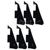 6pcs black guitar pickguard for electric guitar replacement body custom plastic