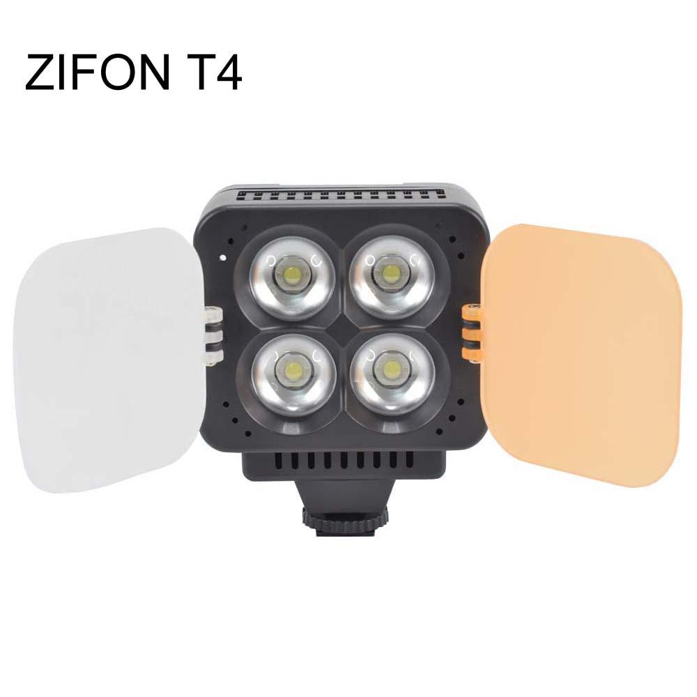 Zifon T4 foto luz LED para vídeo fotografía Digital oscurecimiento alto brillo alta potencia boda Flash lámpara brillo ajustable