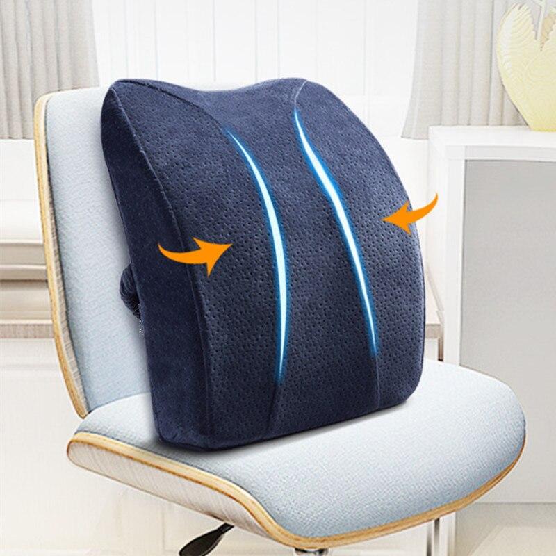 Almohada de espuma de alta calidad 41*37*9,5 cm para asiento, cojín trasero para silla de coche, protección ortopédica para Lumbar