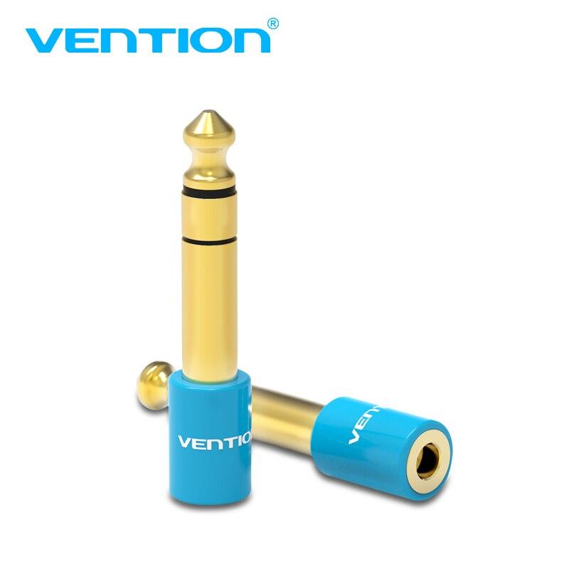 Vention 6,35 мм штекер 3,5 мм Женский аудио адаптер 6,5 до 3,5 позолоченный конвертер для микрофона динамик аудио усилитель 1 шт.