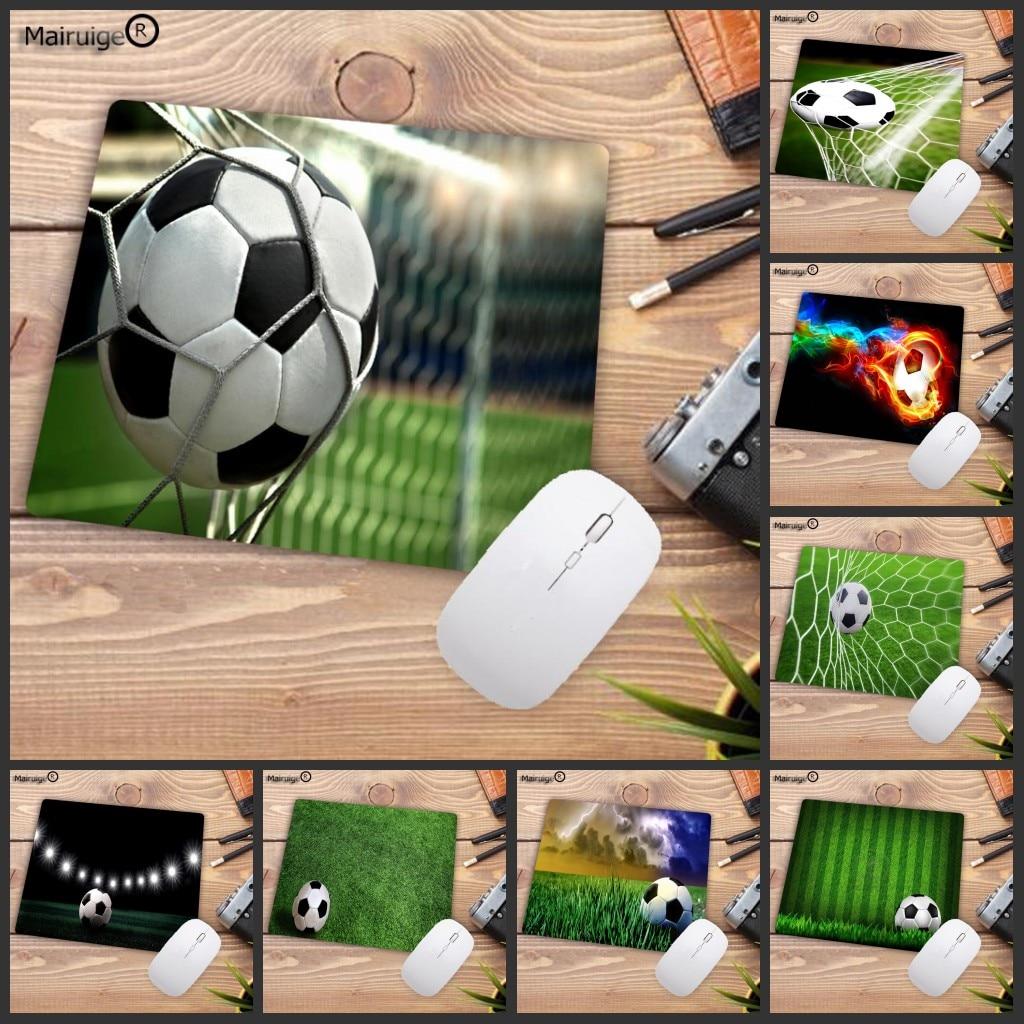 Mairuige Big Promotion Boy mat Pad Soccer Football Natural Rubber Gaming Small Mousepad Desk Mat Office mat Mousepad 22X18CM