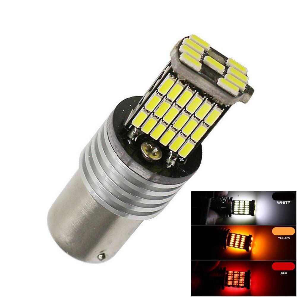 1156 BA15S P21W S25 R5W R10W 1141 45SMD LED 4014 Auto cola frente indicador de giro Canbus marcador Interior bombillas de luz antiniebla