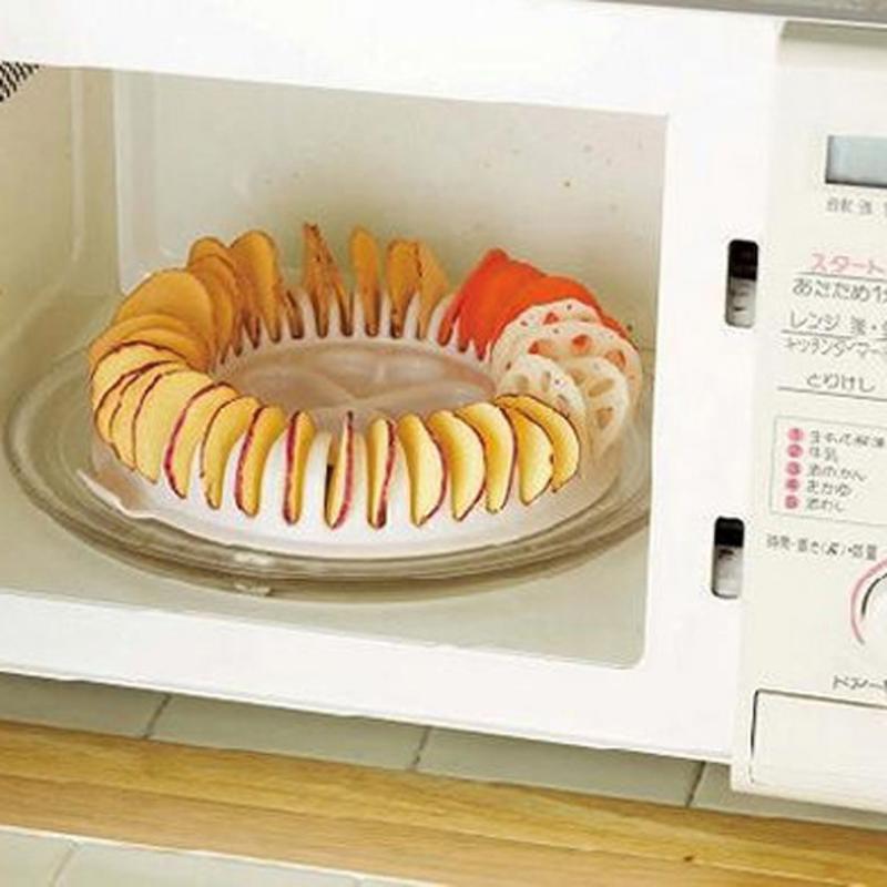 1pc DIY Potato Chips Microwave Oven Maker Baking Mould Appliance Potato Chip Baking Tools Cook Low Calories Kitchen Gadget Tools