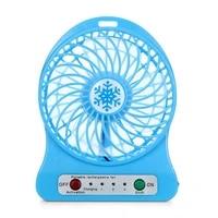 usb fan mini electric personal fans led portable rechargeable desktop fan cooling operated fan with battery