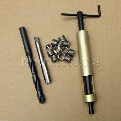 Kit de reparación de roscas M14 x 1,5, herramienta de inserción de inserto Helicoil