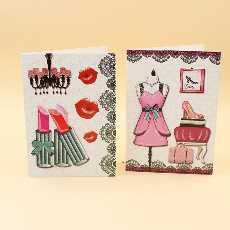 10 unids/lote tarjeta de felicitación de cumpleaños de niño con brillo de dibujos animados con sobre tarjetas de agradecimiento de fiesta de cumpleaños de Navidad