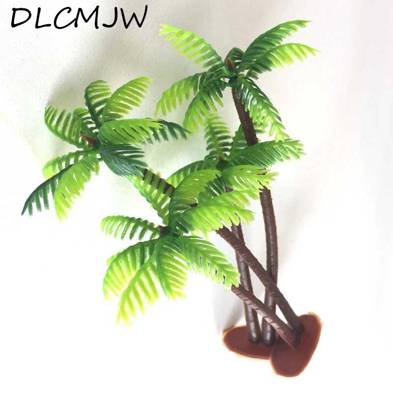 Bonsaï plante artificielle cocotier   Plante Miniature, objet artisanal en plastique, Micro paysage, fausse plante, décoration de bureau, bricolage