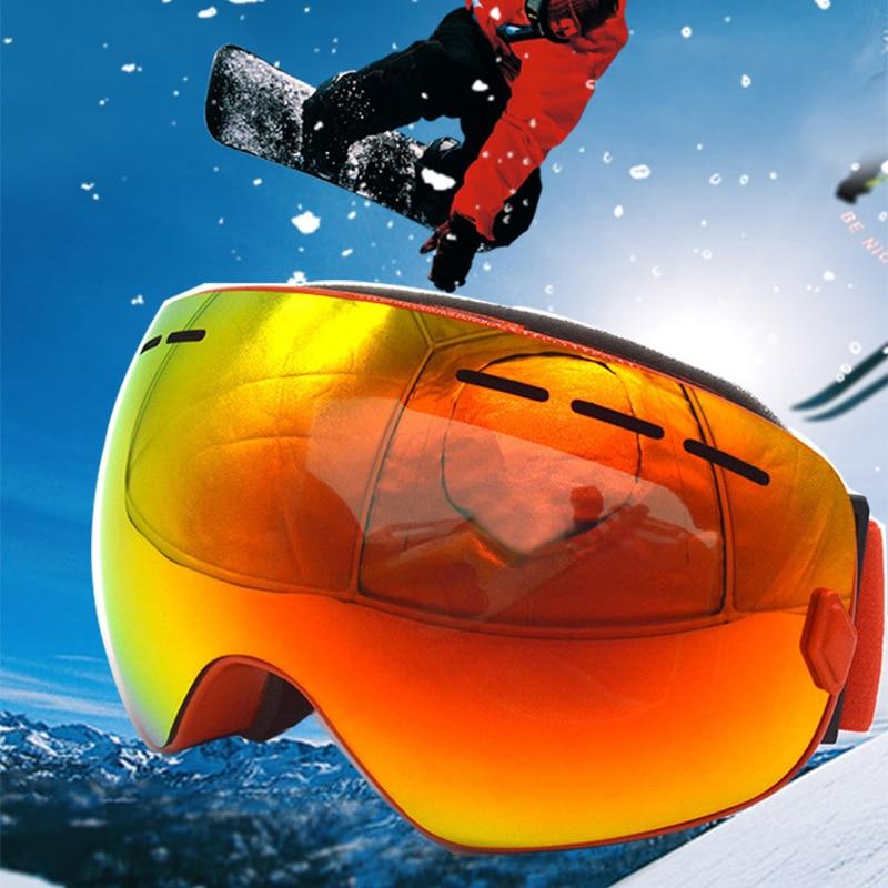¡Novedad de 2018! Gafas profesionales de esquí y snowboard para hombre Gafas antiniebla Gafas de esquí de motocross Gafas de protección contra la nieve Gafas de Skate Google