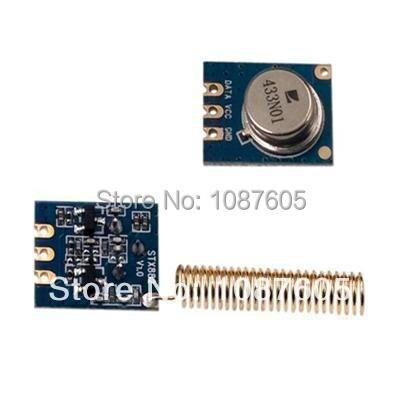2 pçs/lote STX882-315 MHz 433 MHz ASK Módulo Transmissor Pequeno size100m + niquelado primavera antena