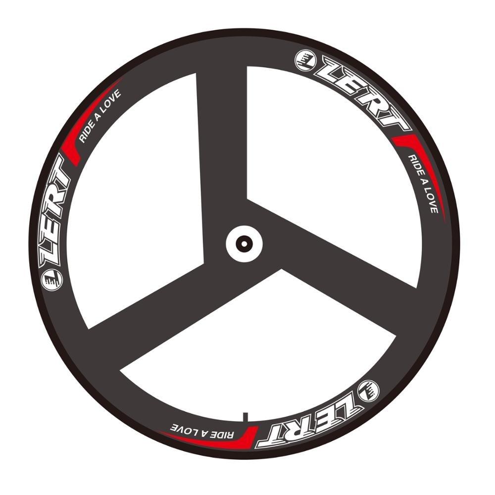 Newest LERT 700C Fixed Gear Track Road bicycle 3K UD 12K full carbon fibre 3 spokes bike wheelset carbon tubular rims Free ship